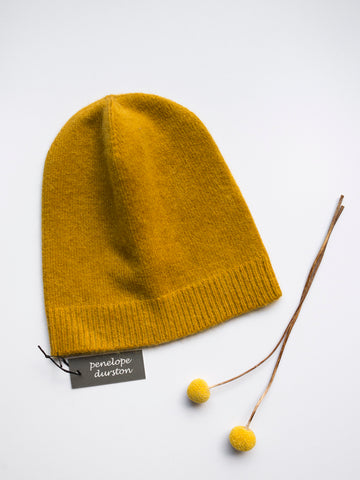 Penelope Durston Angora and Lambswool Slouch Beanie