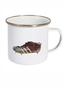 Fabric of Football Enamel Mug