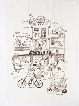 Luka Va Melbourne Coffee Tea Towel