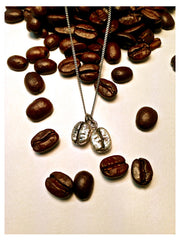 Espresso Love Sterling Silver Coffee Bean Necklace