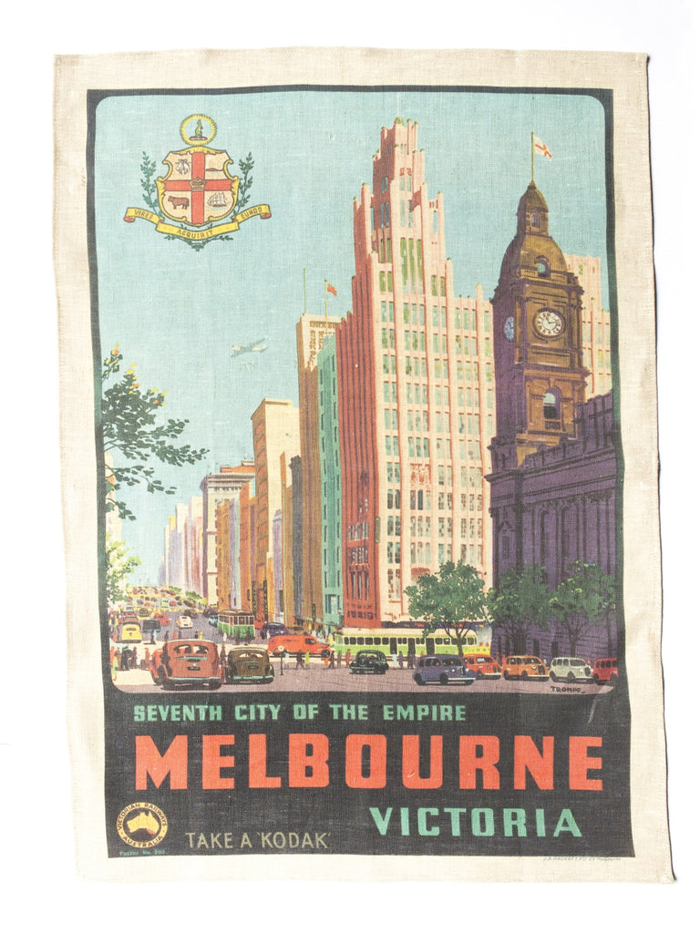 Melbourne Places Tea Towel