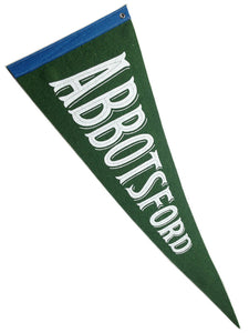 Abbotsford handmade wool felt pennant by Cottage Industry