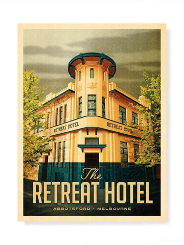 Retreat Hotel, Abbotsford Print