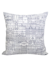 Melbourne Buildings Linen Cushion