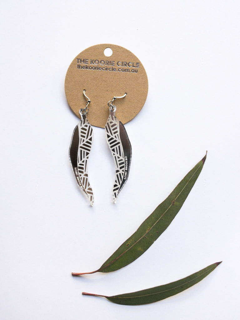 Gum Leaf Mirror Earrings