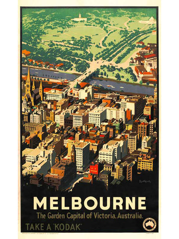 James Northfield Vintage Melbourne Poster