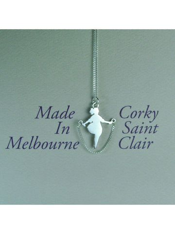 Skipping Girl Necklace
