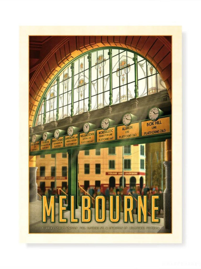 A Day In Town Flinders Street Station Print