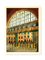 A Day In Town, Flinders Street Station Print