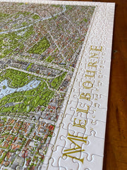 The Melbourne Map 1000 Piece Jigsaw Puzzle