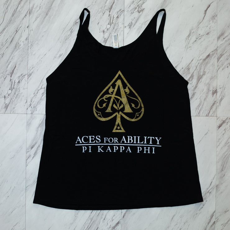 pi kappa phi aces for ability ladies tank