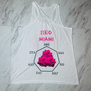 pi kappa war of the roses miami ladies racerback tank top