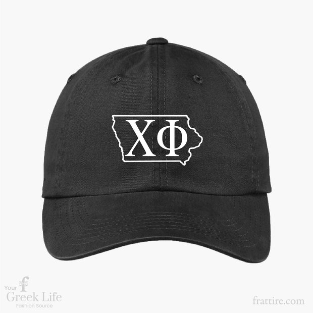 Chi Phi ISU Embroidered Baseball Cap