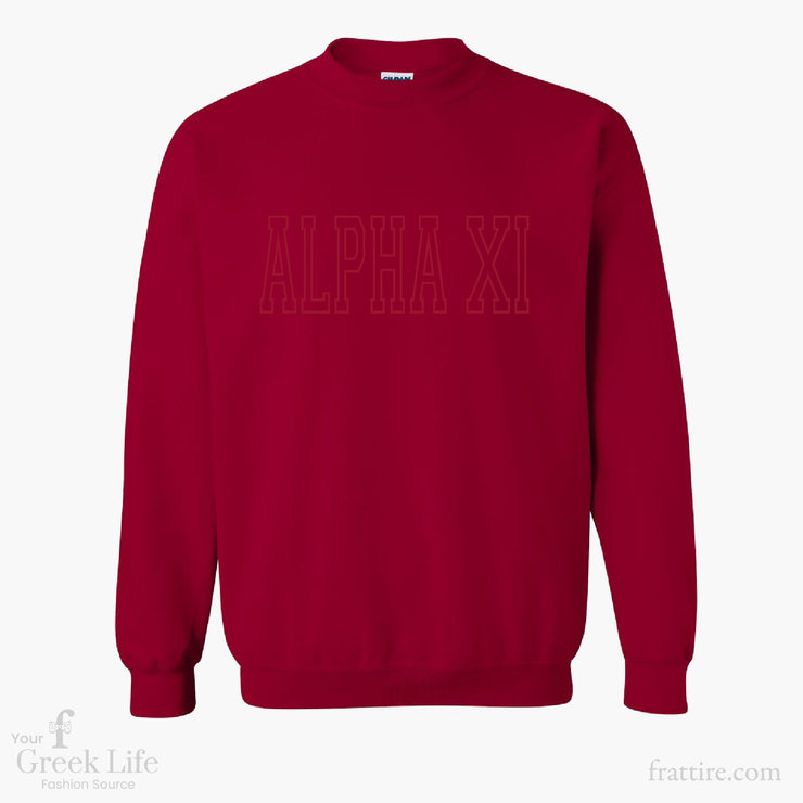 Alpha Xi Delta Gildan Embroidered Crewneck Sweatshirt