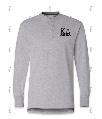 Kappa Delta Henley Long Sleeve