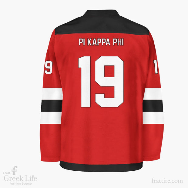 Pi Kappa Phi Red Hockey Jersey