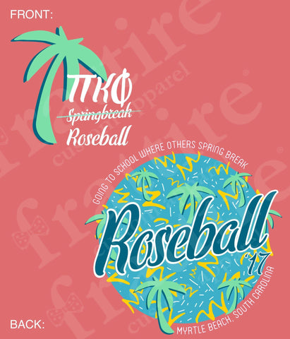 Pi Kappa Phi Roseball '17 Pocket Tee