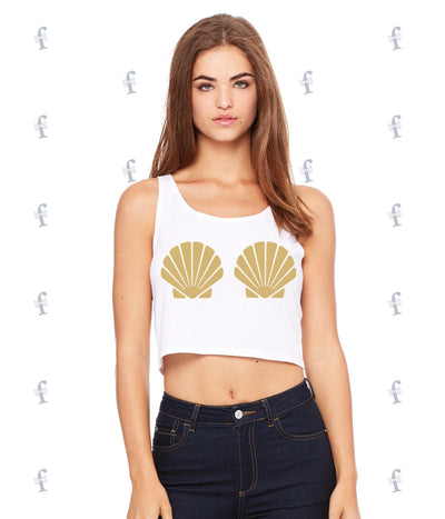 Mermaid Shell Crop Tank