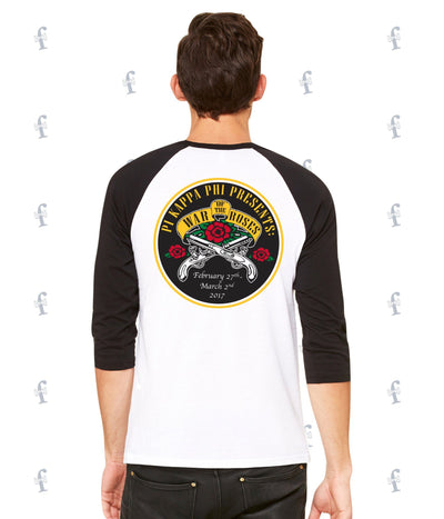 Pi Kapp FAU War of the Roses Baseball Tees