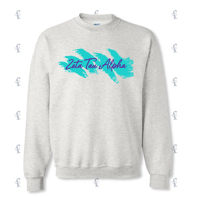 Zeta Tau Alpha 90's crewneck sweater