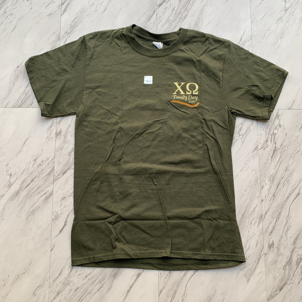 Chi Omega 2017 family day tee