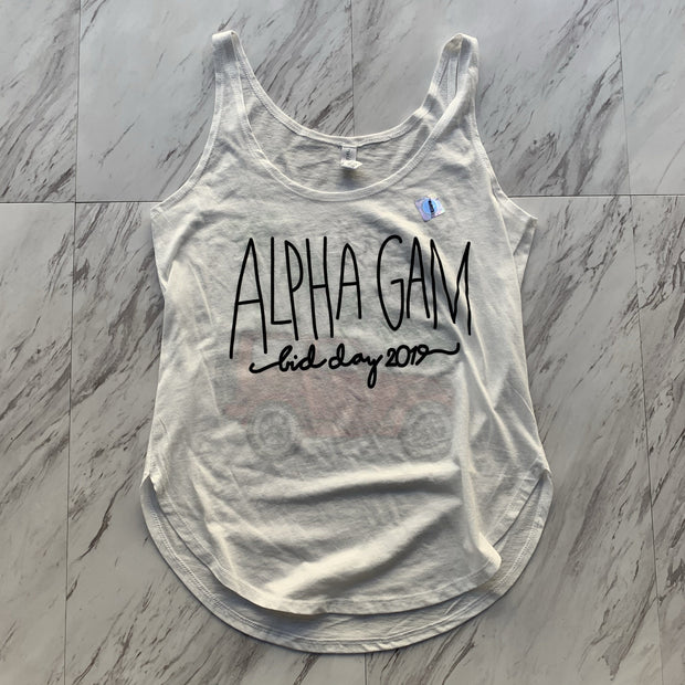 Alpha Gamma Delta 2019 bid day ladies tank