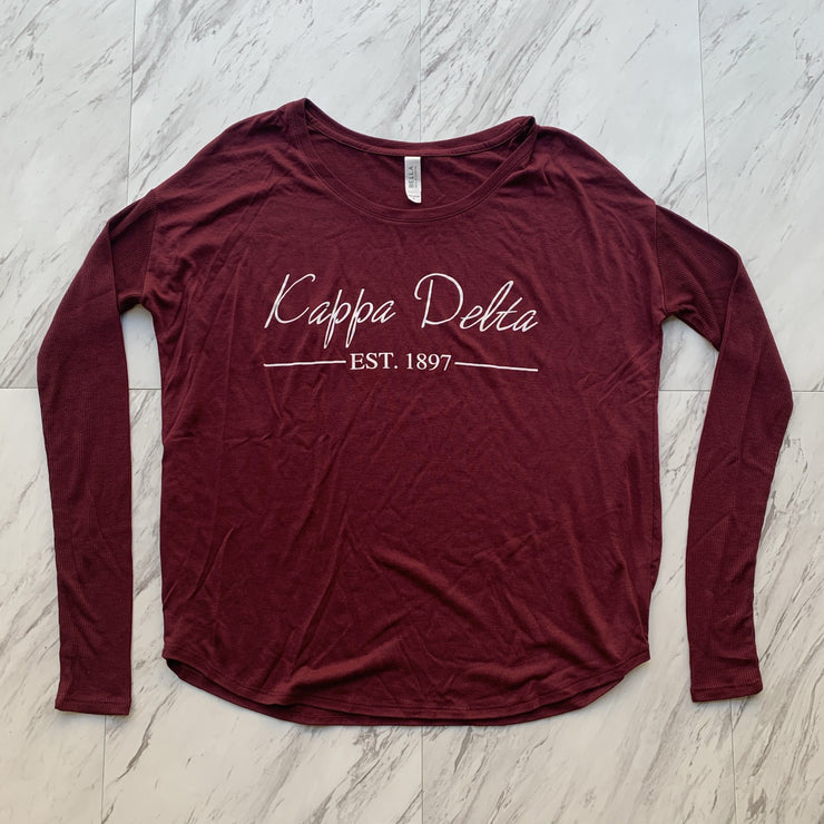 Kappa Delta ladies long sleeve