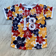 Delta Chi Floral Baseball Jersey