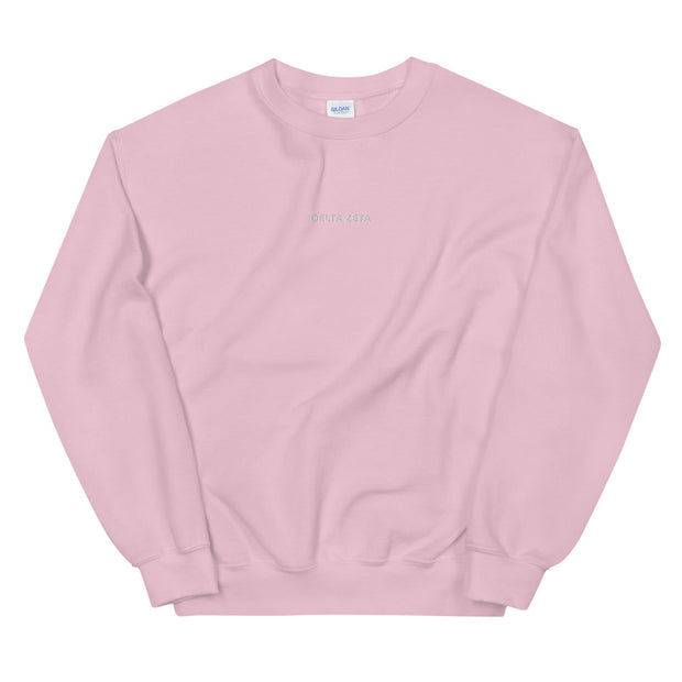 Delta Zeta Casual Embroidered Unisex Sweatshirt