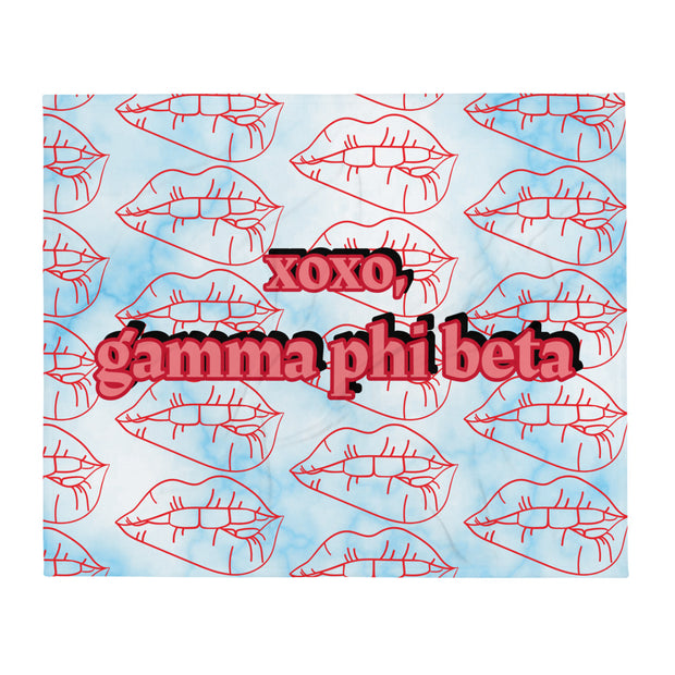 Gamma Phi Beta XOXO Throw Blanket