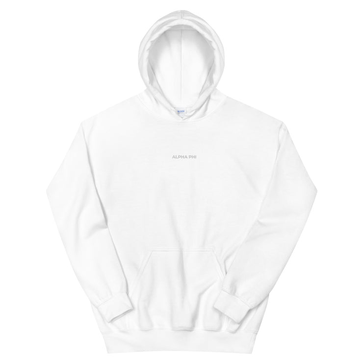 Alpha Phi Casual Embroidered Unisex Hoodie