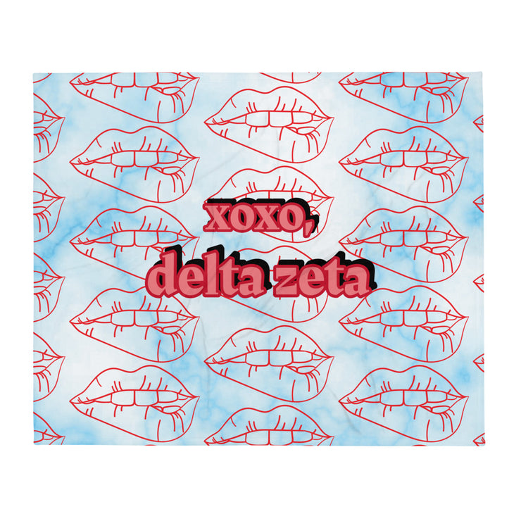 Delta Zeta XOXO Throw Blanket