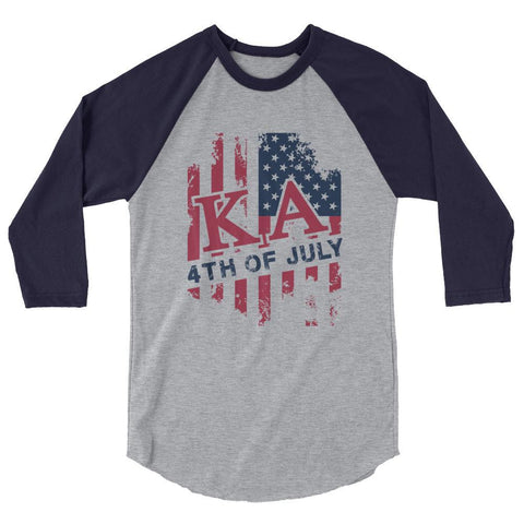 KA USA 3/4 sleeve raglan shirt
