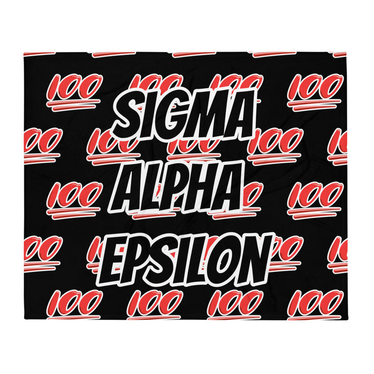 Sigma Alpha Epsilon 100 Throw Blanket