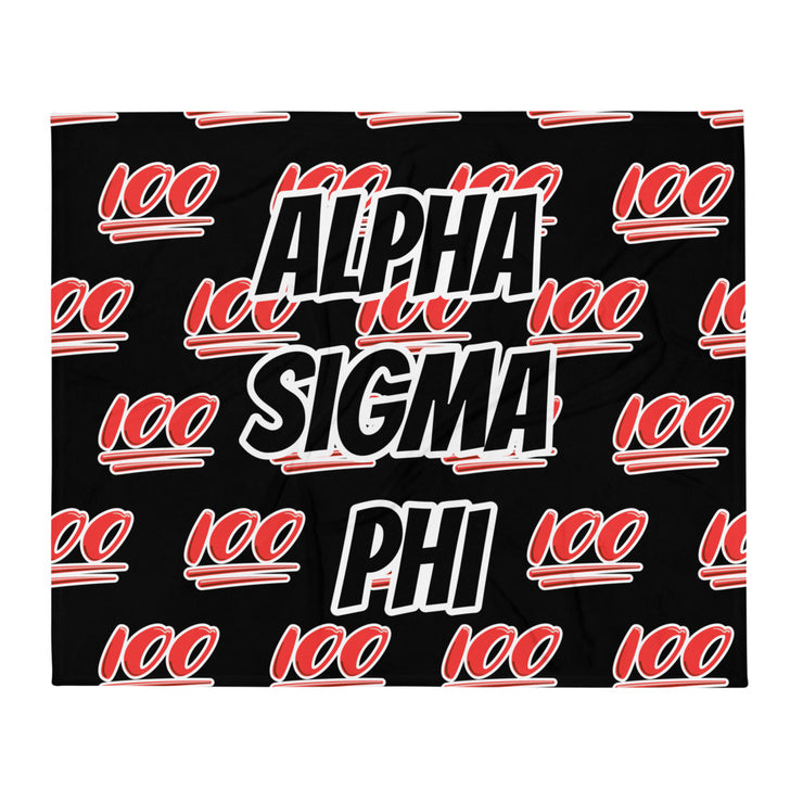 Alpha Sigma Phi 100 Throw Blanket