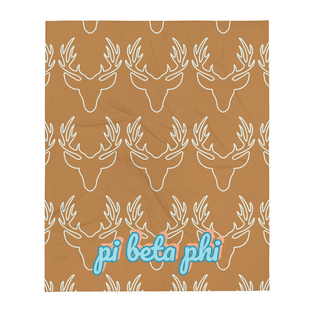 Pi Beta Phi Deer Throw Blanket