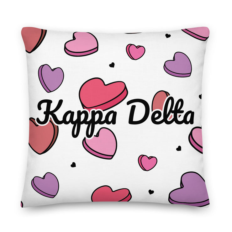 Kappa Delta Candy Hearts Premium Pillow