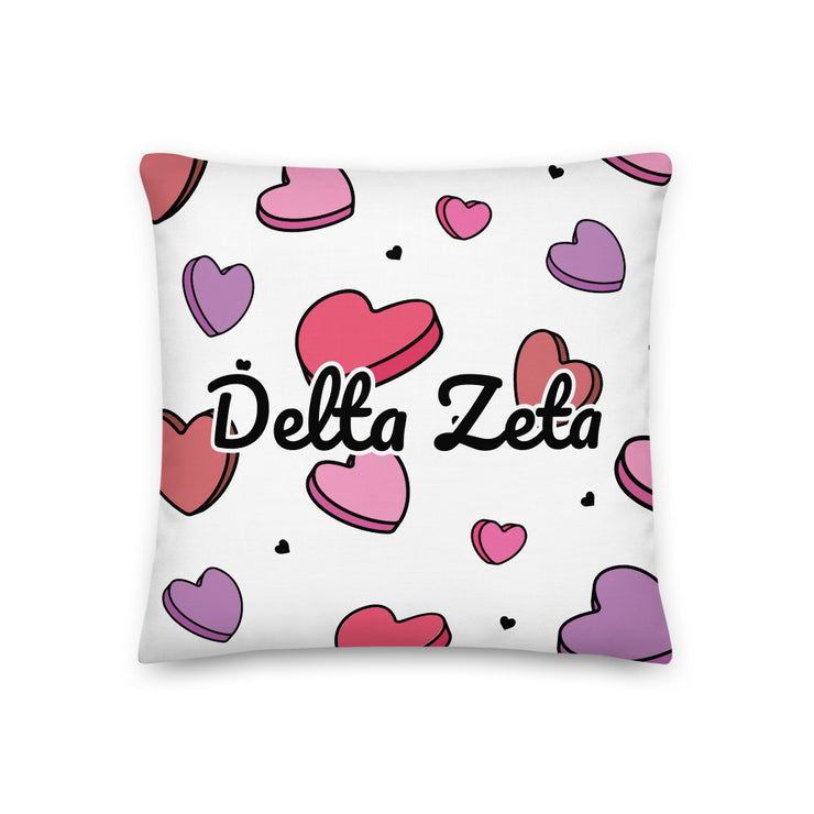 Delta Zeta Candy Hearts Premium Pillow