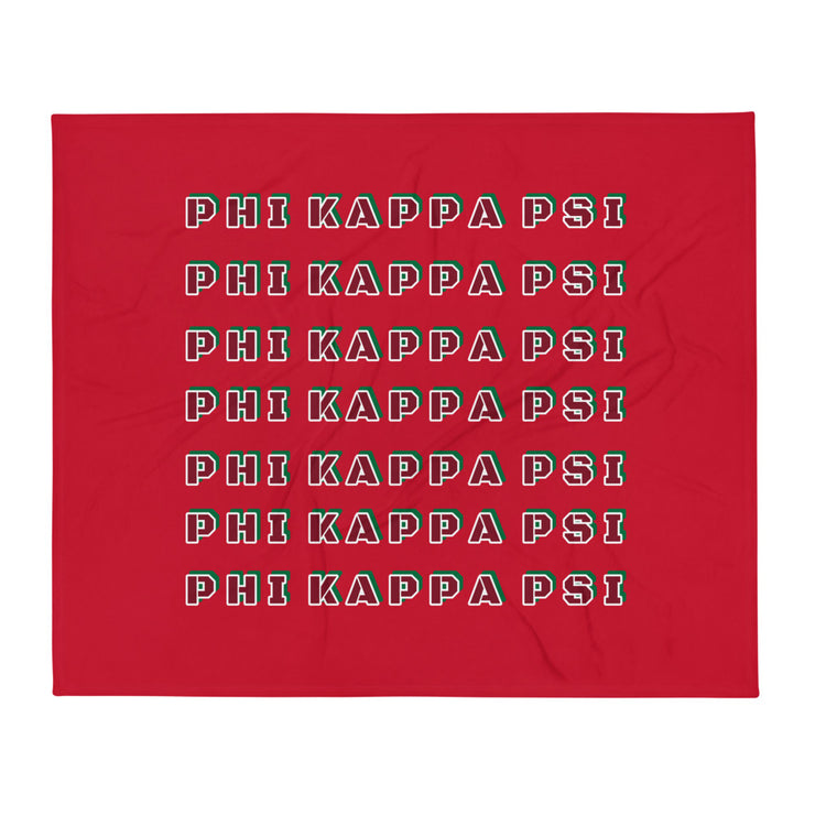 Phi Kappa Psi Retro Throw Blanket