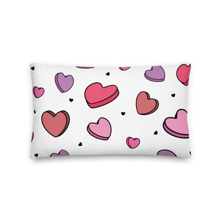 Zeta Tau Alpha Candy Hearts Premium Pillow