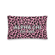 Alpha Chi Omega Cheetah Premium Pillow