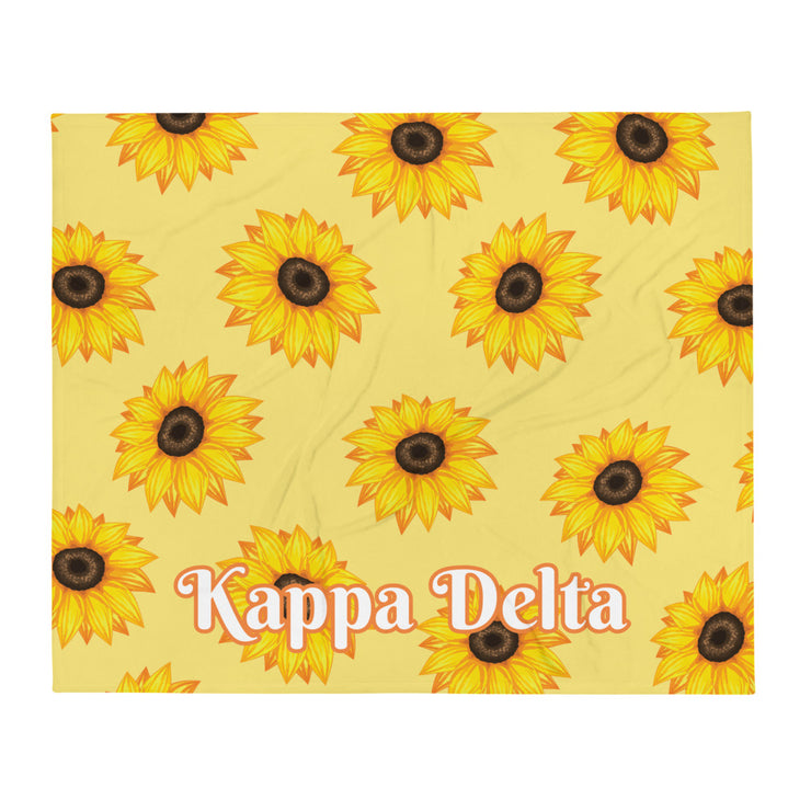 Kappa Delta Sunflower Throw Blanket