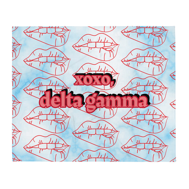 Delta Gamma XOXO Throw Blanket