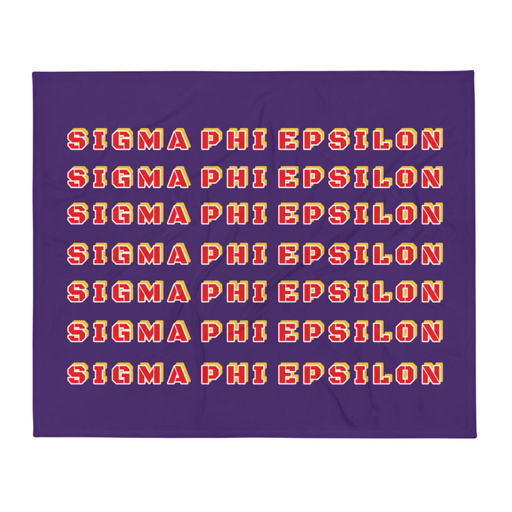 Sigma Phi Epsilon Retro Throw Blanket