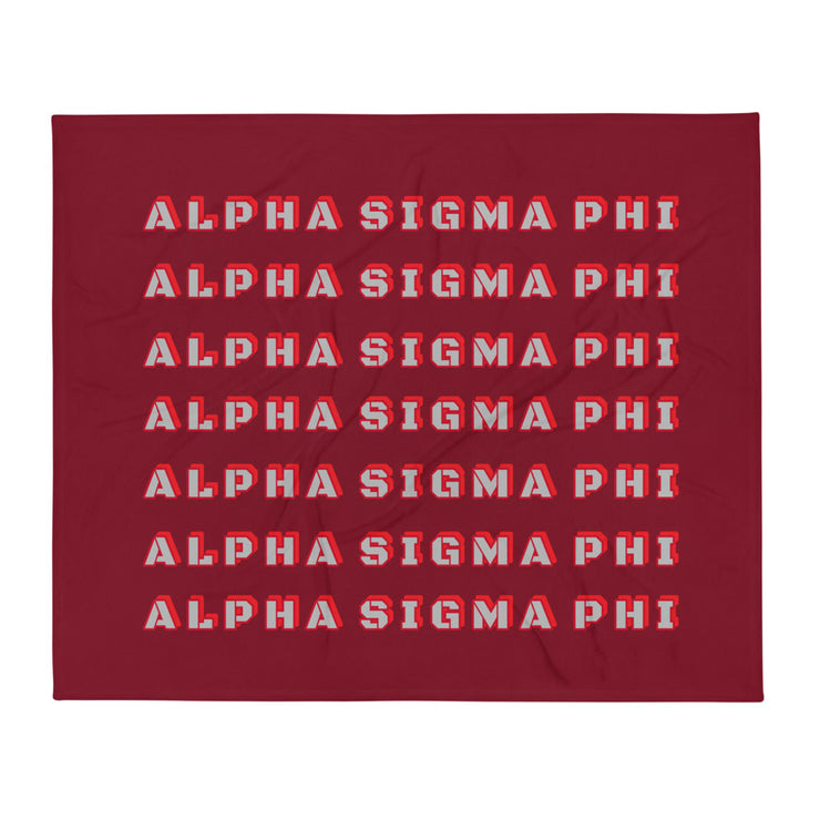 Alpha Sigma Phi Retro Throw Blanket