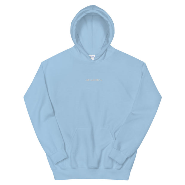 Alpha Xi Delta Casual Embroidered Unisex Hoodie