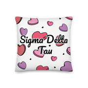 Sigma Delta Tau Candy Hearts Premium Pillow