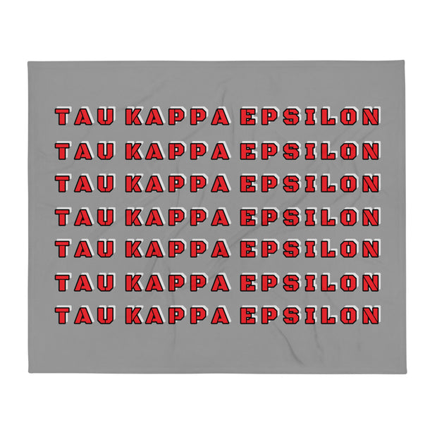 Tau Kappa Epsilon Retro Throw Blanket