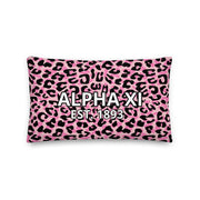 Alpha Xi Delta Cheetah Premium Pillow