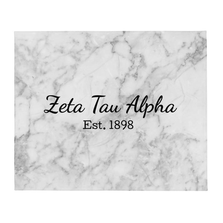 Zeta Tau Alpha Year Blanket